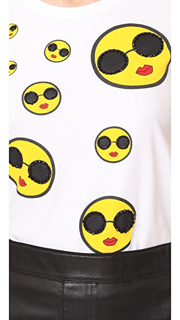 alice + olivia Rylyn Smiley Stace Tee
