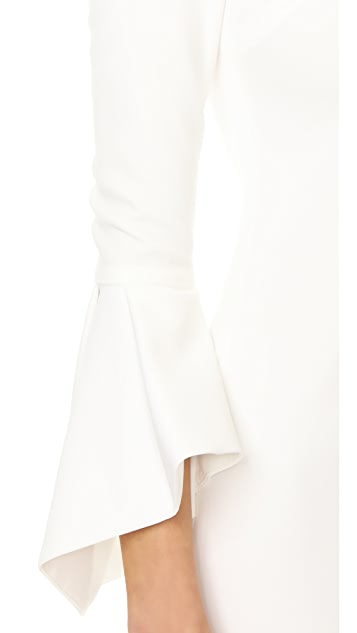 alice + olivia Dora Bell Sleeve Dress
