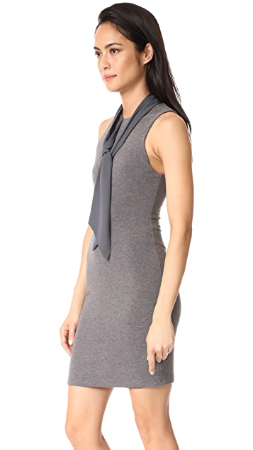 alice + olivia Mary Fitted Dress with Neck Tie