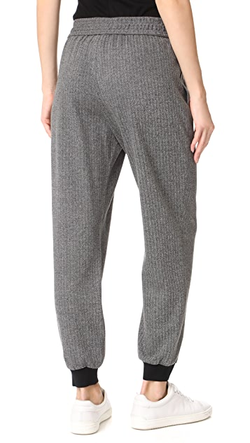 alice + olivia Pete Smocked Jogger Pants