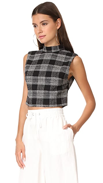 alice + olivia Garland Sleeveless Mock Neck Top