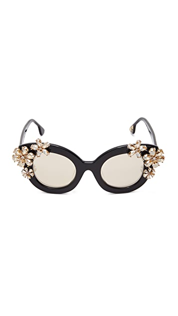 alice + olivia Madison Floral Sunglasses