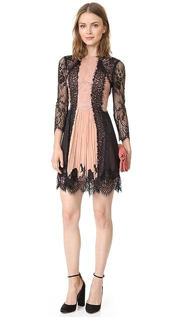 alice + olivia Kaylen Lace 3/4 Sleeve Dress
