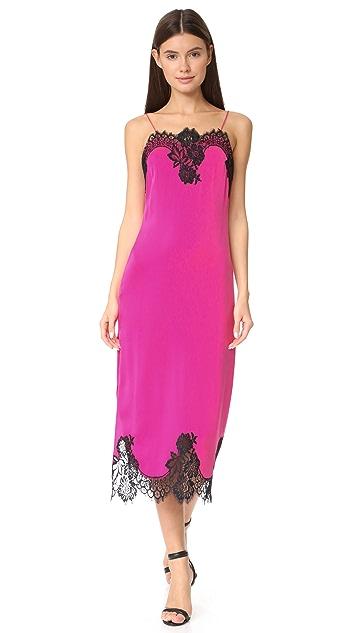 alice + olivia Luna Side Slit Slip Dress