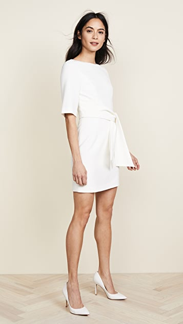 alice + olivia Virgil Boat Neck Wrap Dress