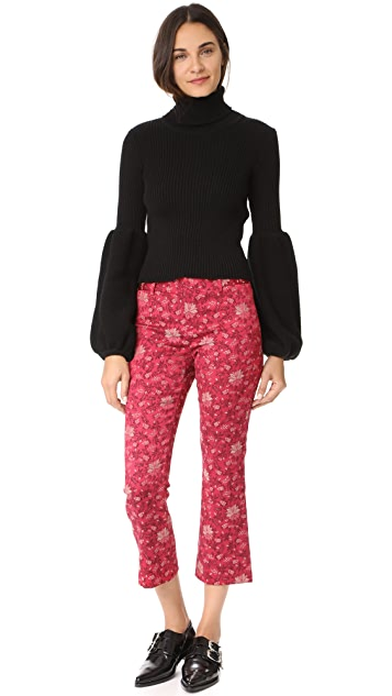 alice + olivia Stacey Cropped Flare Pants