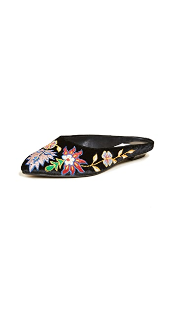 alice + olivia Abbey Embroidered Mules