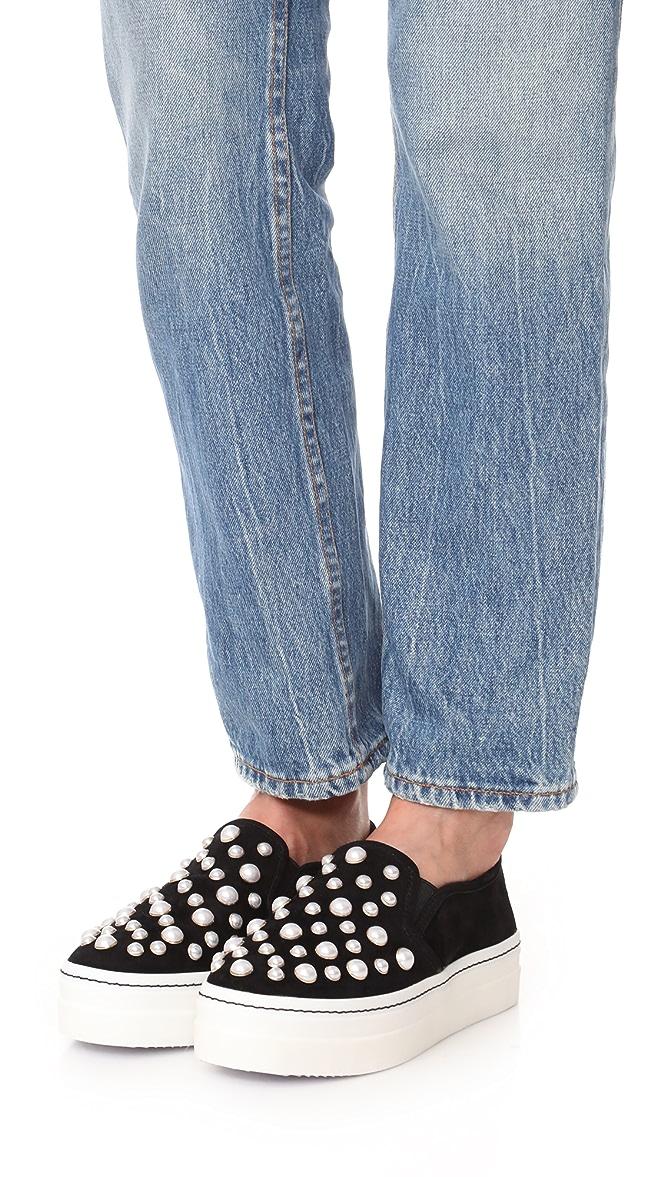 Alice Black Olivia Sasha Suede Slip-On Sneaker 40