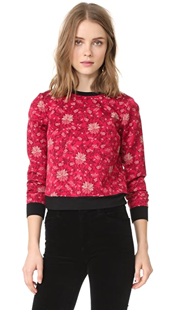 alice + olivia Marylou Back Zip Sweatshirt