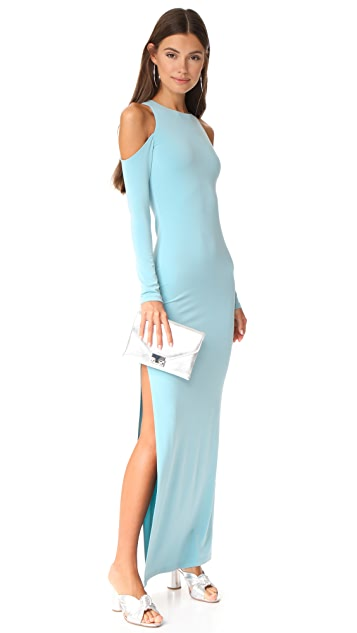 alice + olivia Dawna Side Slit Maxi Dress