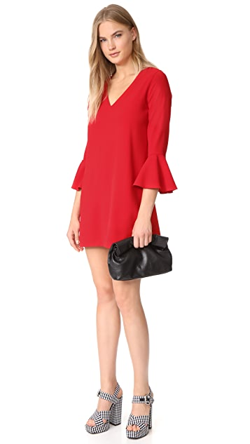 alice + olivia Tameika Trumpet Sleeve Dress