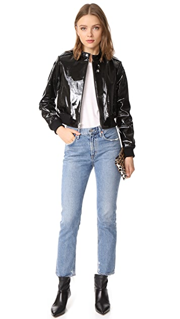 alice + olivia Nixon Patent Leather Jacket