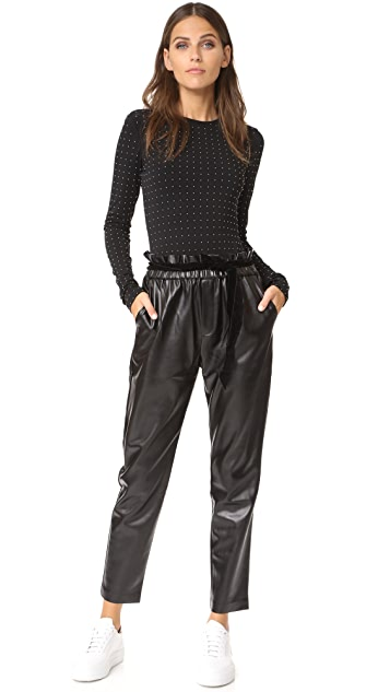 alice + olivia Britney Studded Bodysuit