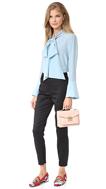 alice + olivia Cadence Zip Hem Trousers