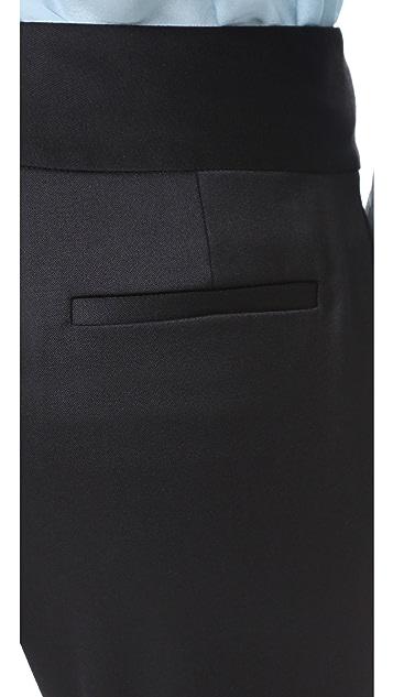 alice + olivia Cadence Zip Hem Trousers