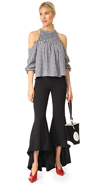 alice + olivia Jinny High Low Flare Pants