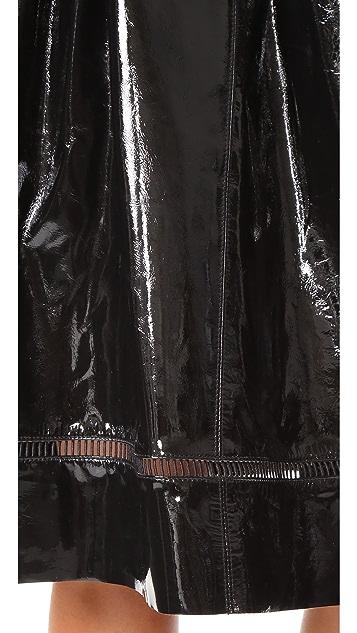 alice + olivia Misty Patent Leather Skirt