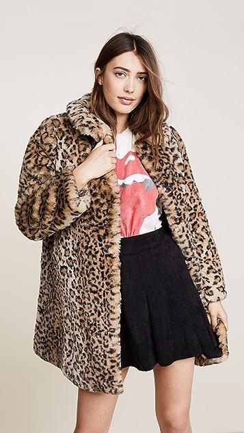 alice + olivia Kinsley Faux Fur Coat