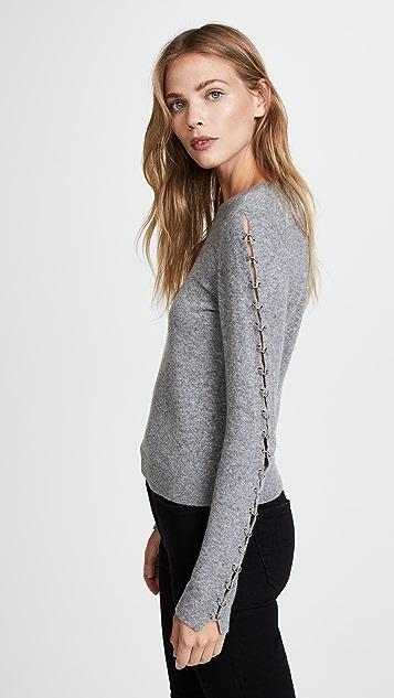 alice + olivia Sparrow Grommet Sleeve Pullover