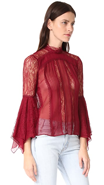 alice + olivia Ivy Handkerchief Sleeve Top