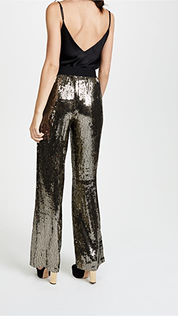 alice + olivia Racquel Sequin Wide Leg Pants