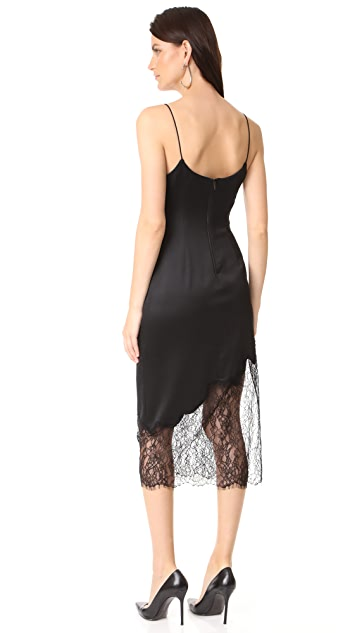 alice + olivia Evalee Side Slit Midi Slip Dress