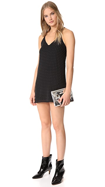 alice + olivia Jameson Studded Y-Back Mini Dress