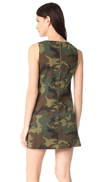 alice + olivia Clyde Aline Camo Shift Dress