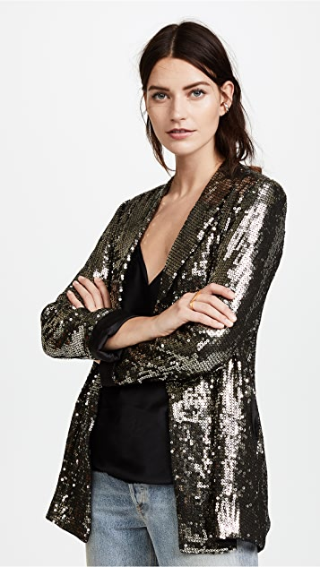 6151da503 Jace Sequin Shawl Collar Oversized Blazer