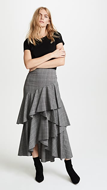 alice + olivia Martina Ruffle Skirt
