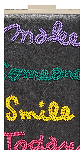 alice + olivia Sophia Embellished North South Clutch