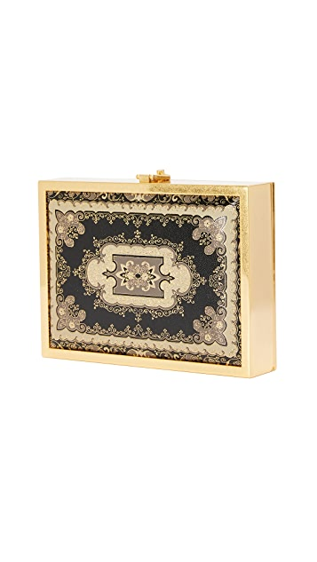 alice + olivia Darla Embossed Box Clutch