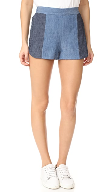 alice + olivia Madison Elastic Back Shorts