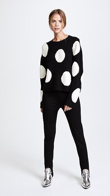 alice + olivia Gleeson Polka Dot Boxy Pullover