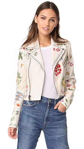 alice + olivia Cody Leather Jacket
