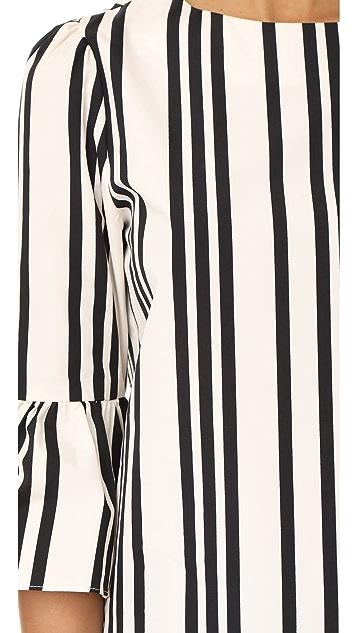 alice + olivia Bernice Ruffle Sleeve Top