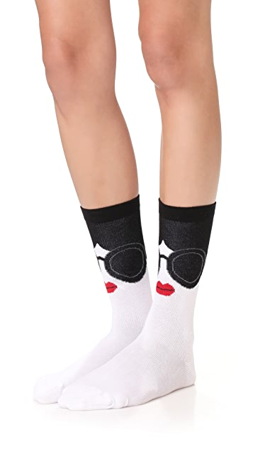 alice + olivia Stace Face Sock 2 Pack