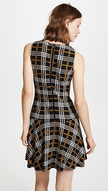alice + olivia Fonda Drop Waist Dress