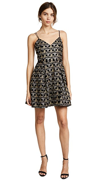 alice + olivia Marilla Embroidered Dress