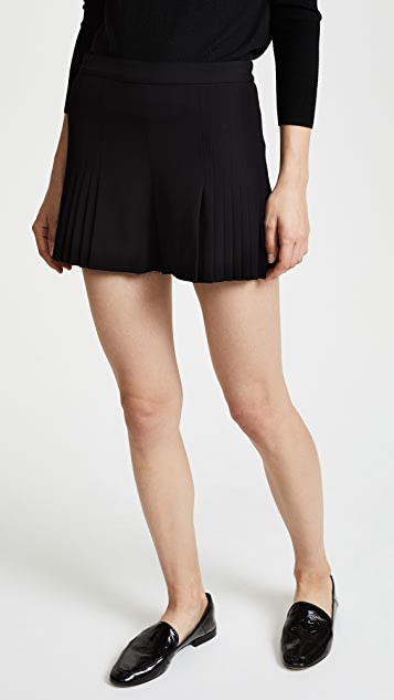 alice + olivia Graham High Waisted Pleated Shorts