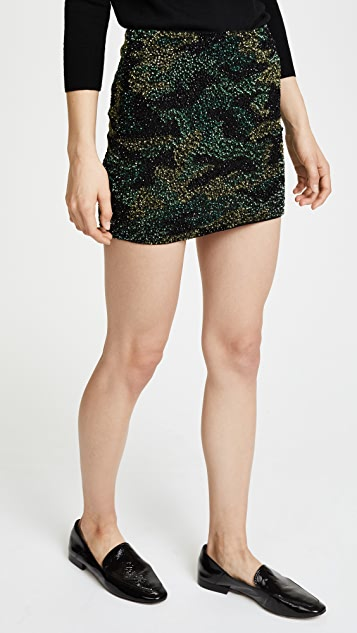 alice + olivia Elana Sequin Skirt