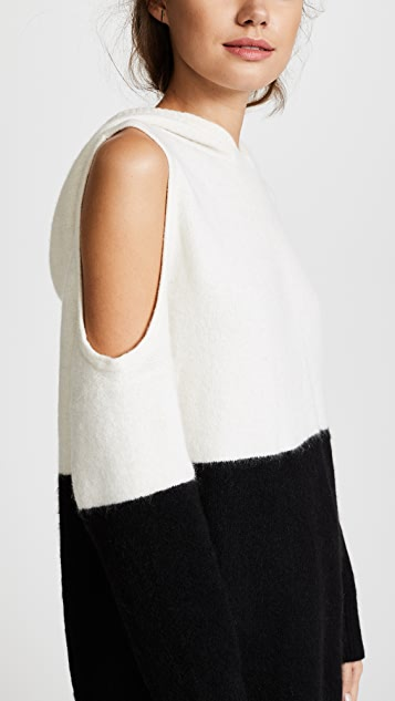 alice + olivia Victor Cold Shoulder Hoodie