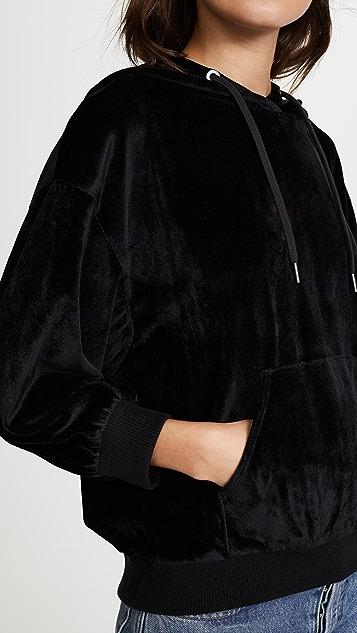 alice + olivia Adam Oversized Velvet Hoodie