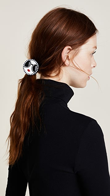 alice + olivia Stace Face with Imitation Pearls Hair Tie