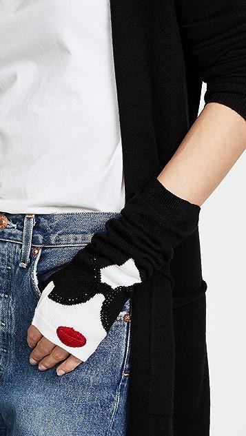 alice + olivia Stace Face Long Fingerless Gloves