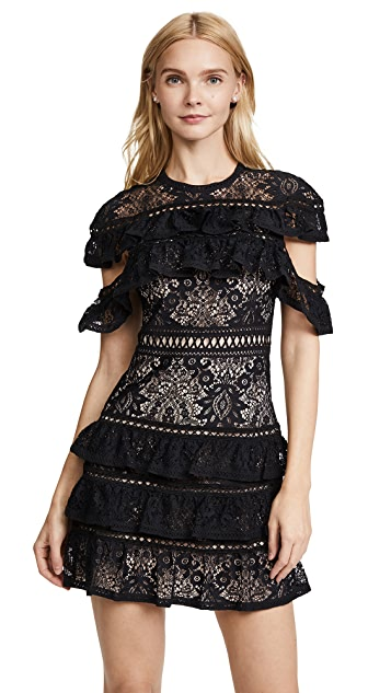 alice + olivia Jolie Ruffle Tier Dress