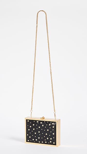alice + olivia Darla Laser Cut Stars Box Clutch