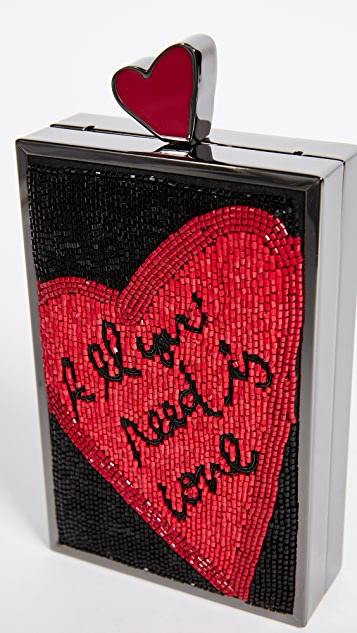 alice + olivia Sophia All You Need Is Love North / South Clutch
