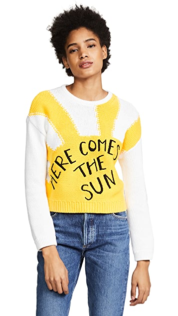 alice + olivia Leena Cropped Sweater