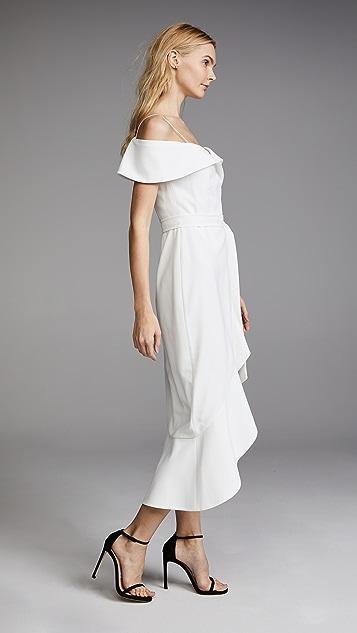 alice + olivia Josie Off Shoulder Wrap Dress